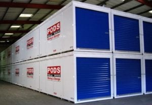 PODS mobile storage in Manchester