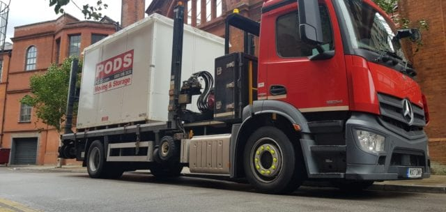 PODS Container Truck - moving in Manchester
