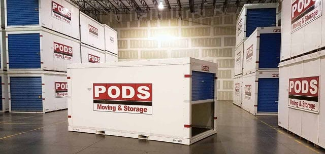 PODS Containers in Warehouse